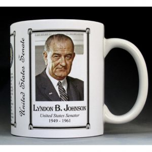 Lyndon B. Johnson US Senator history mug.