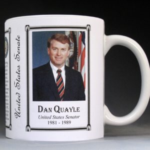 Dan Quayle US Senator who became Vice President of the United States history mug.