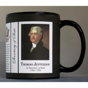 Thomas Jefferson US Secretary of State history mug.