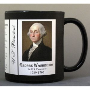US President George Washington history mug.