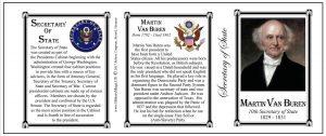 Martin Van Buren US Secretary of State history mug.