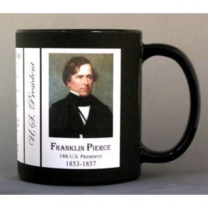 14th US President Franklin Pierce history mug.