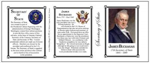 James Buchanan US Secretary of State history mug tri-panel.