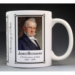 James Buchanan US Secretary of State history mug.