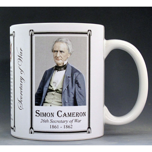 Simon Cameron US Secretary of War history mug.