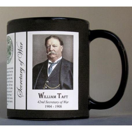 William Howard Taft US Secretary of War history mug.