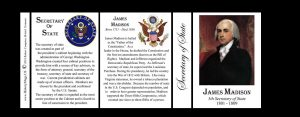 James Madison US Secretary of State history mug tri-panel.
