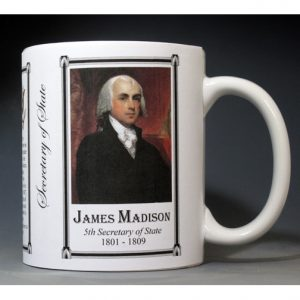 James Madison US Secretary of State history mug.
