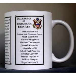 All The Declaration of Independence Signatories history mug.