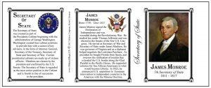 James Monroe US Secretary of State history mug tri-panel.