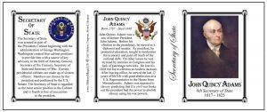 John Quincy Adams US Secretary of State history mug tri-panel.