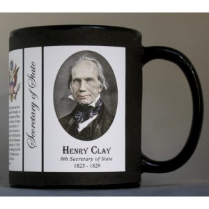 Henry Clay US Secretary of State history mug.