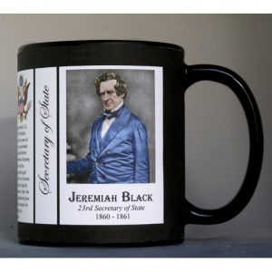 Jeremiah Black US Secretary of State history mug.