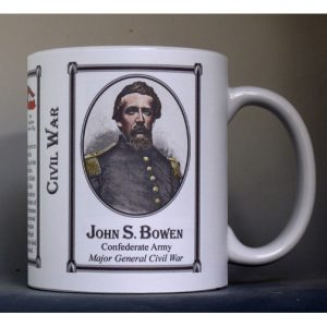 John Bowen Civil War Confederate Army history mug.