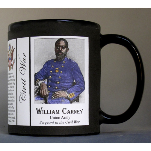 William Carney, Civil War Union Army history mug.