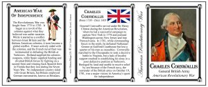 General Charles Cornwallis, British soldier, Revolutionary War history mug tri-panel.