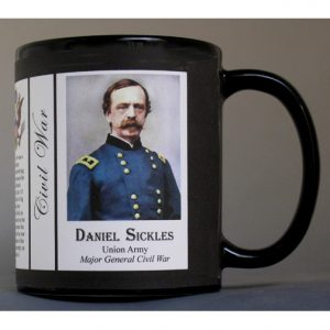 Daniel Sickles Civil War Union Army history mug.