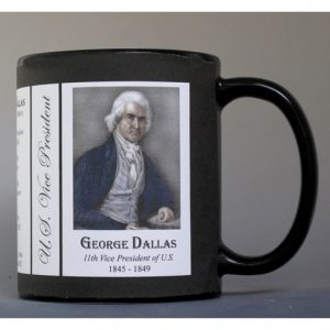 George Dallas US Vice President history mug.