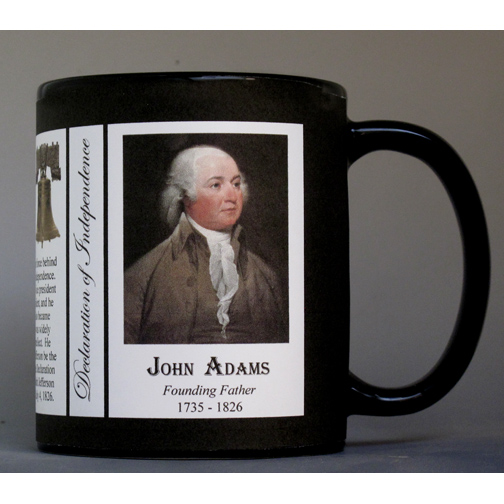 John Adams Declaration of Independence signatory history mug.