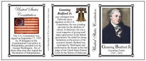 Gunning Bedford Jr. US Constitution history mug tri-panel.