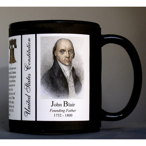 John Blair US Constitution history mug.