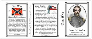 John Bowen Civil War Confederate Army history mug tri-panel.