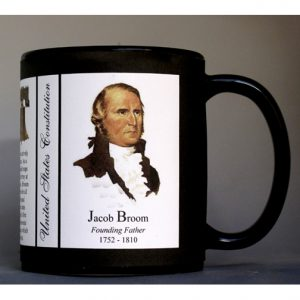 Jacob Broom US Constitution history mug.