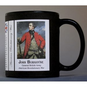 General John Burgoyne, British soldier, Revolutionary War history mug.