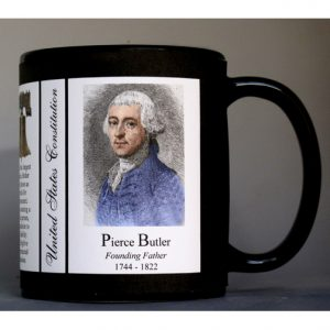 Pierce Butler US Constitution history mug.