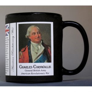 General Charles Cornwallis, British soldier, Revolutionary War history mug.