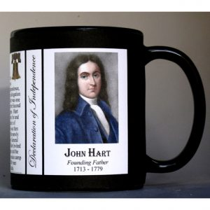 John Hart Declaration of Independence signatory history mug.