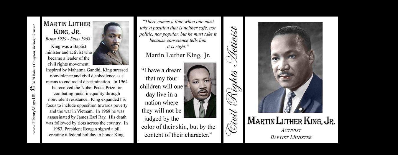 the ideas of martin luther king an activist Assassination of martin luther king martin luther king, jr was a pastor and activist for civil they wanted to follow the ideas of violence put forth by.