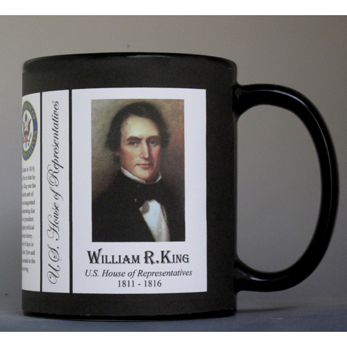 William King US Representative history mug.
