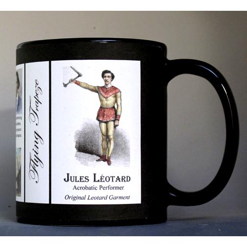 Jules Léotard performer/athlete history mug.