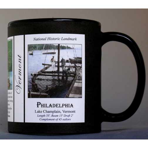 The USS Philadelphia Vermont history mug.