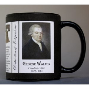George Walton Declaration of Independence signatory history mug.
