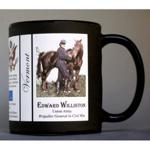 Edward Williston Vermont history mug.