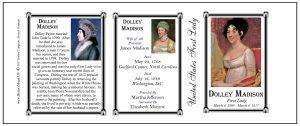 Dolley Madison US First Lady history mug tri-panel.