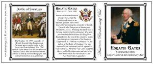 Horatio Gates Revolutionary War history mug tri-panel.