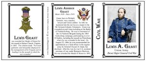 Lewis Grant Civil War Union soldier history mug tri-panel.