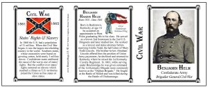 Benjamin Helm Civil War Confederate Army & Navy history mug tri-panel.