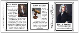 Isaac Newton Scientist & Inventor history mug tri-panel.