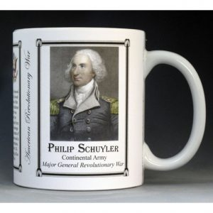 Philip Schuyler Revolutionary War history mug.