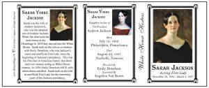 Sarah Yorke Jackson US First Lady history mug tri-panel.
