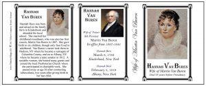 Hannah Van Buren US First Lady history mug tri-panel.