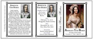 Angelica Van Buren US First Lady history mug tri-panel.