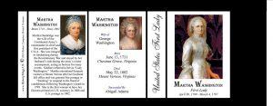 Martha Washington US First Lady history mug tri-panel-150