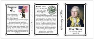 Henry Knox Secretary of War history mug tri-panel