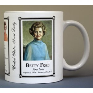 Betty Ford First Lady history mug.