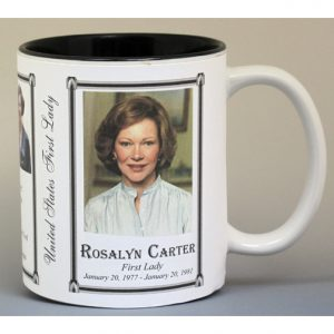 Rosalynn Carter First Lady history mug.